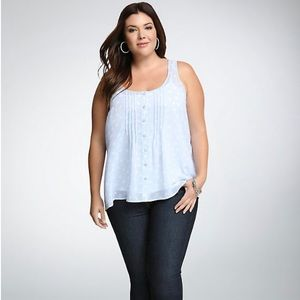 TORRID Light Blue Floral Blouse